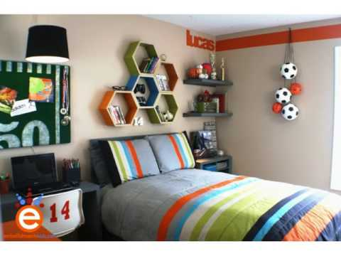 Grey and Orange Boys Bedroom Color Ideas - YouTube