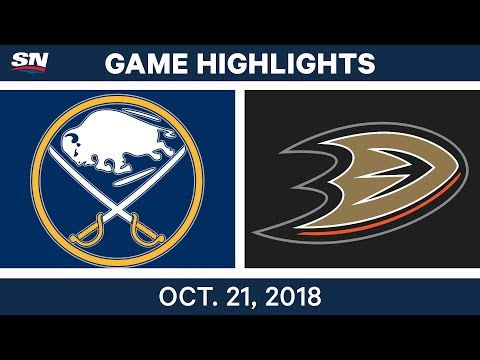 NHL Highlights | Sabres vs. Ducks - Oct. 21, 2018