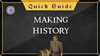 [Quick Guide] Making history
