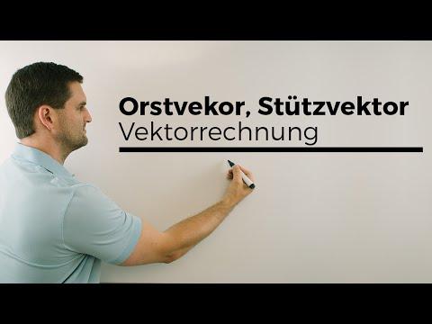 Ortsvektor, Stützvektor, Verankerungspunkt, Vektorrechnung | Mathe by Daniel Jung from YouTube · Duration:  4 minutes 39 seconds