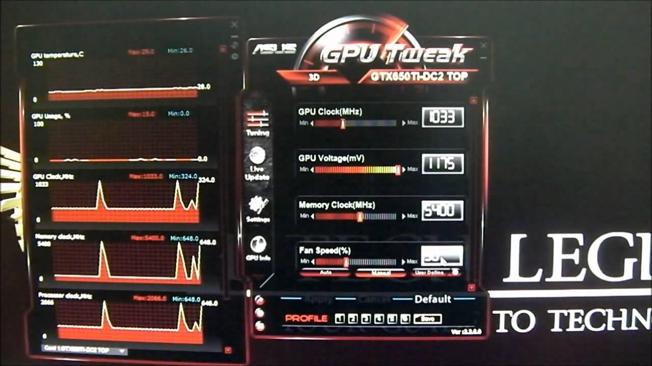 ASUS GTX 650Ti DirectCU II - Overclocking with GPU Tweak Utility Tutorial