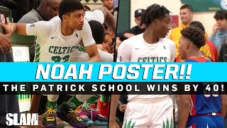Noah Farrakhan flushes POSTER DUNK on defender!!! The Patrick School wins by FORTY 😈