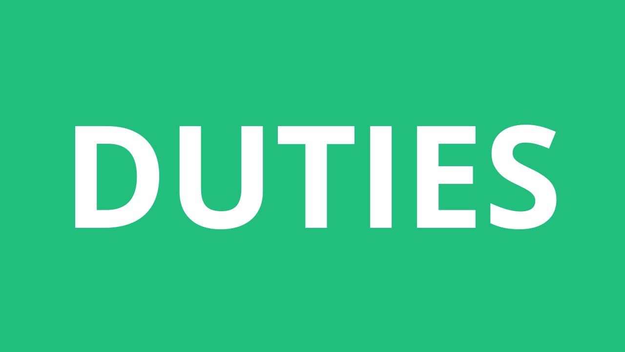 How To Pronounce Duties - Pronunciation Academy - YouTube