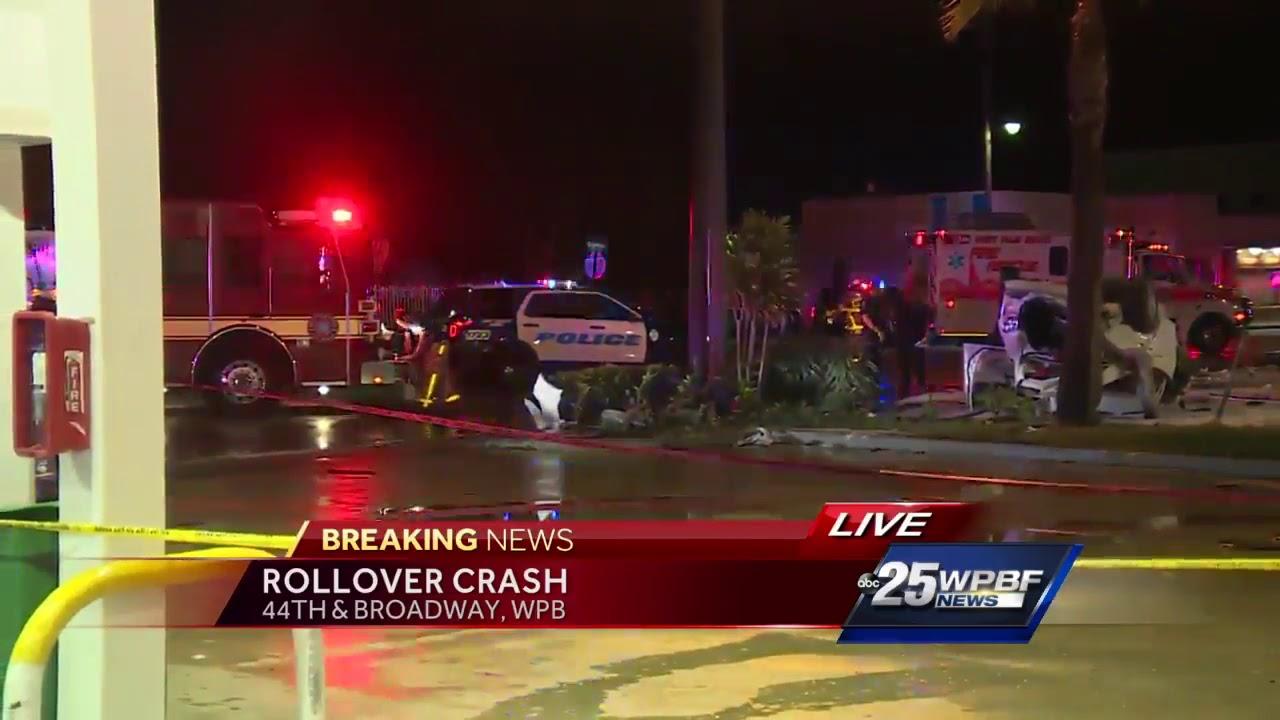 Two car crash closes West Palm Beach Street