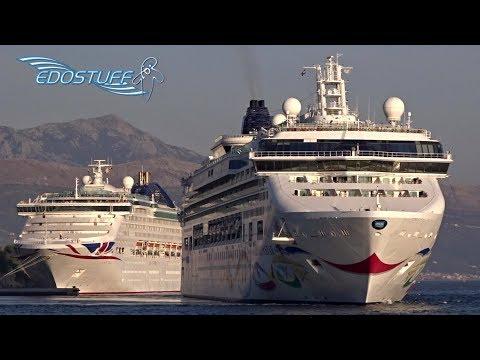 NCL Norwegian Star departing Port of Split 14/10/17 - Croatia HD