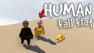 الإنسان المسطح | اثنين عرسان يحلون ألغاز Human Fall Flat