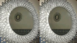 اصنعي مرآة الشمس الرائعة فقط بملاعق البلاستيك  How to recycle plastic spoons into a sun-like mirror