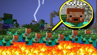 ПРОБУЮ СПАСТИСЬ ОТ ЗОМБИ, ВСЕ МИНИ-ИГРЫ МАЙНКРАФТА ЧЕЛЛЕНДЖ №11 Minecraft Blocking Dead