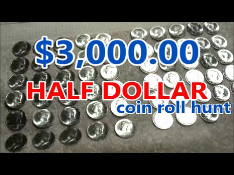 $3,000 HALF DOLLAR coin roll hunting ADVENTURE - searching 6 bank boxes for treasure