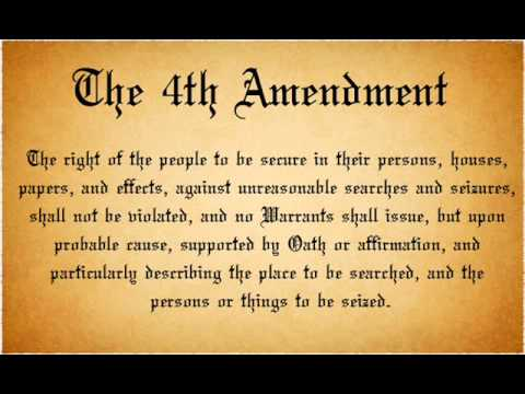 4rth amendment The fourth amendment to the us constitution protects personal privacy, and every citizen's right to be free from unreasonable government intrusion into their.