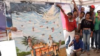 Pintor de Medellín llegó hasta fundación para mostrar una pintura llena de dolor