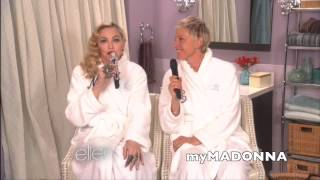 "Madonna and Ellen sing ""Dress You Up"""