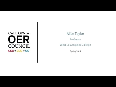COOL4ED - Alice Taylor - Humanities - West Los Angeles College