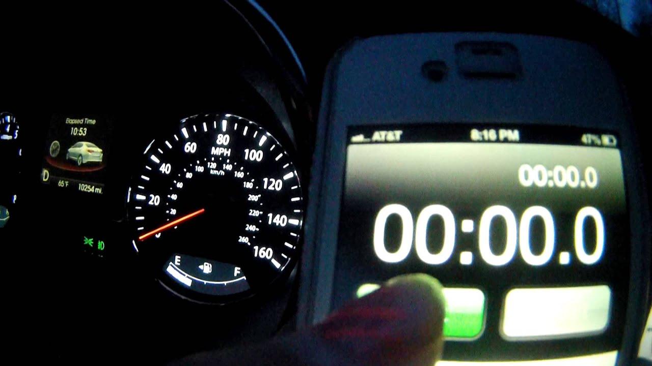 2013 KIA Optima SXL 0 60 speed test