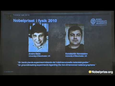 2010 Nobel Prize in Physics Announcement