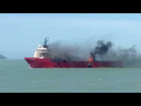 Offshore Supply Vessel UP Safira Suffers Fire in Brazil