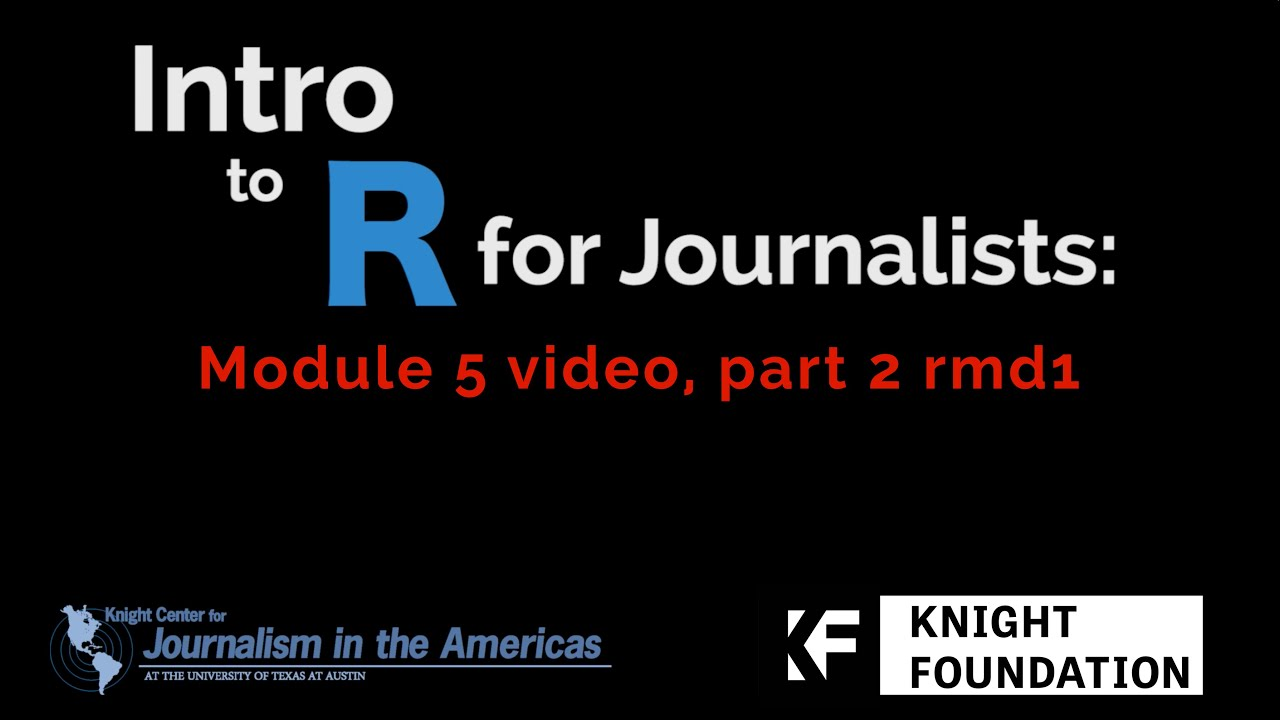 RMarkdown :: Journalism with R