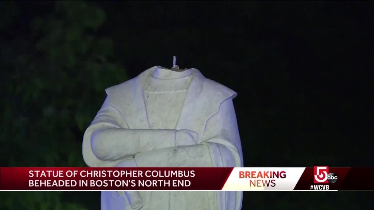 Headless Christopher Columbus statue removed from Boston's ...
