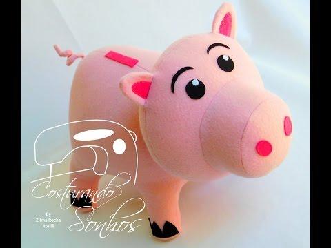 Passo a passo personagem porquinho toy story zilma rocha youtube - Cochon de toy story ...