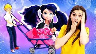 Супер Кот сидит с малышом! Мультик Леди Баг - Видео для девочек. Ох, уж эти куклы!