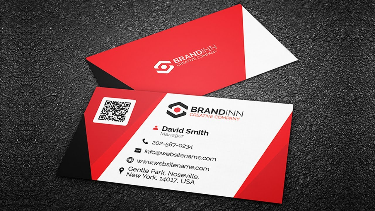 Creating a Corporate Business Card Design using Guidelines - Coreldraw Tutorials - YouTube