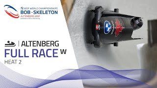 Altenberg | BMW IBSF World Championships 2021 - Women's Monobob Heat 2 | IBSF Official
