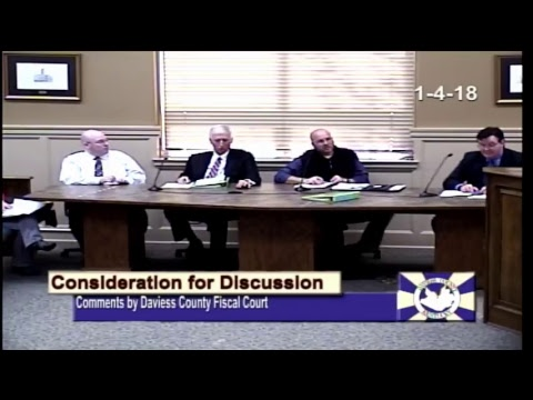 Daviess County Fiscal Court Meeting January 4, 2018