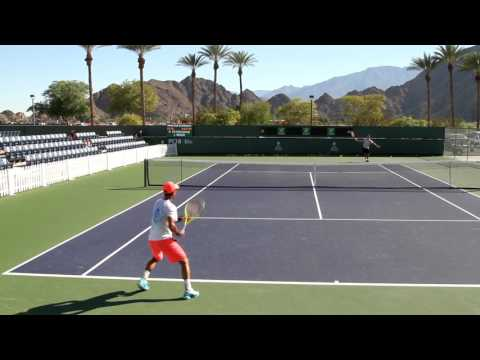 Yen-hsun Lu Practice 2017 BNP Paribas Open Indian Wells