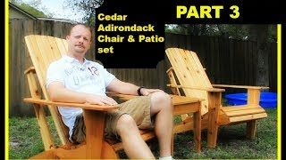 Cedar Adirondack Chair And Patio Set Part 3