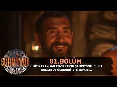 Ümit Karan, Galatasaray'ın şampiyonluğunu konseyde öğrendi! | 81.Bölüm | Survivor 2018