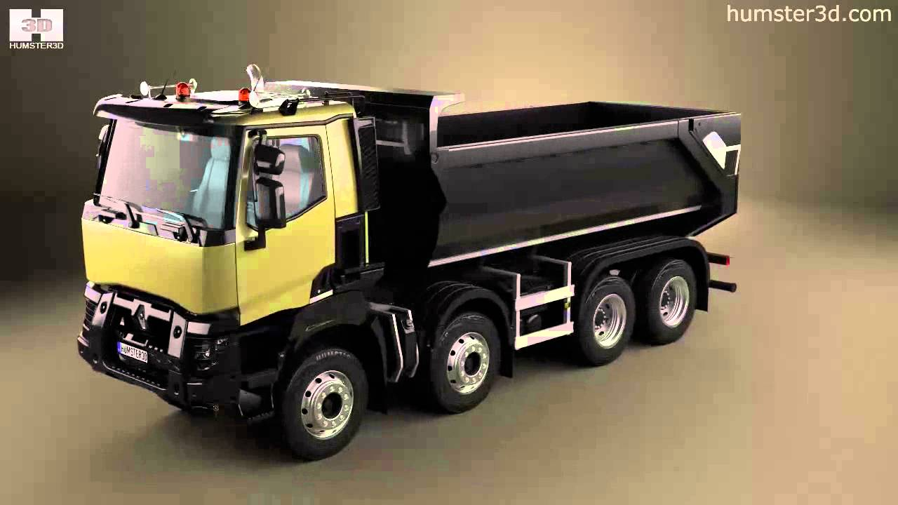 renault k 430 tipper truck 2013 by 3d model store youtube. Black Bedroom Furniture Sets. Home Design Ideas