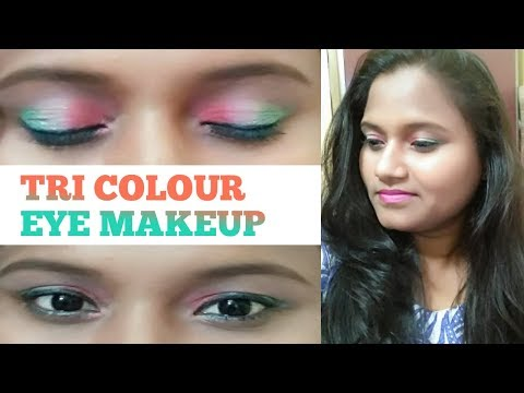 Tri Colour Eye Makeup | Indian Flag | Republic Day