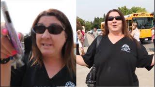 Entitled Karen Parks in Handicap Spot And Argues in Front Of School