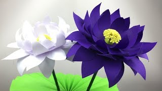 Lotus Flower | Paper Crafts For School | Lotus Flower Making With Paper