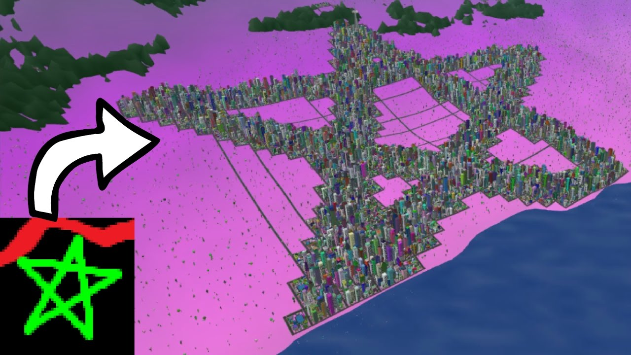 Cities In Ms >> Turning Ms Paint Drawings Into Cities Warning 0 017 Fps