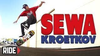 Sewa Kroetkov Skateboarding in Slow Motion - Fakie Ghetto Bird