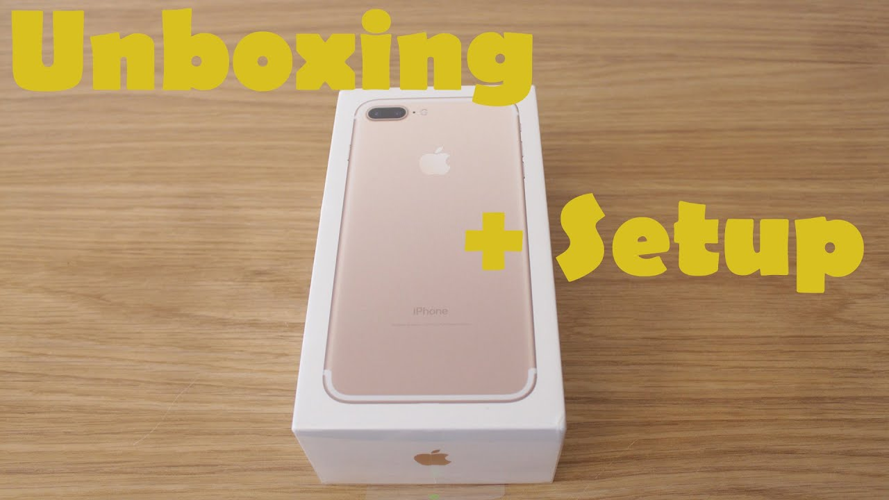 iphone 7 plus 128gb gold unboxing setup youtube. Black Bedroom Furniture Sets. Home Design Ideas