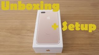 Iphone 7 Plus 128GB Gold Unboxing + Setup