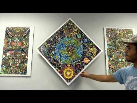 Universe Mandala Spinner by DiNo of www.ARTofDiNo.com
