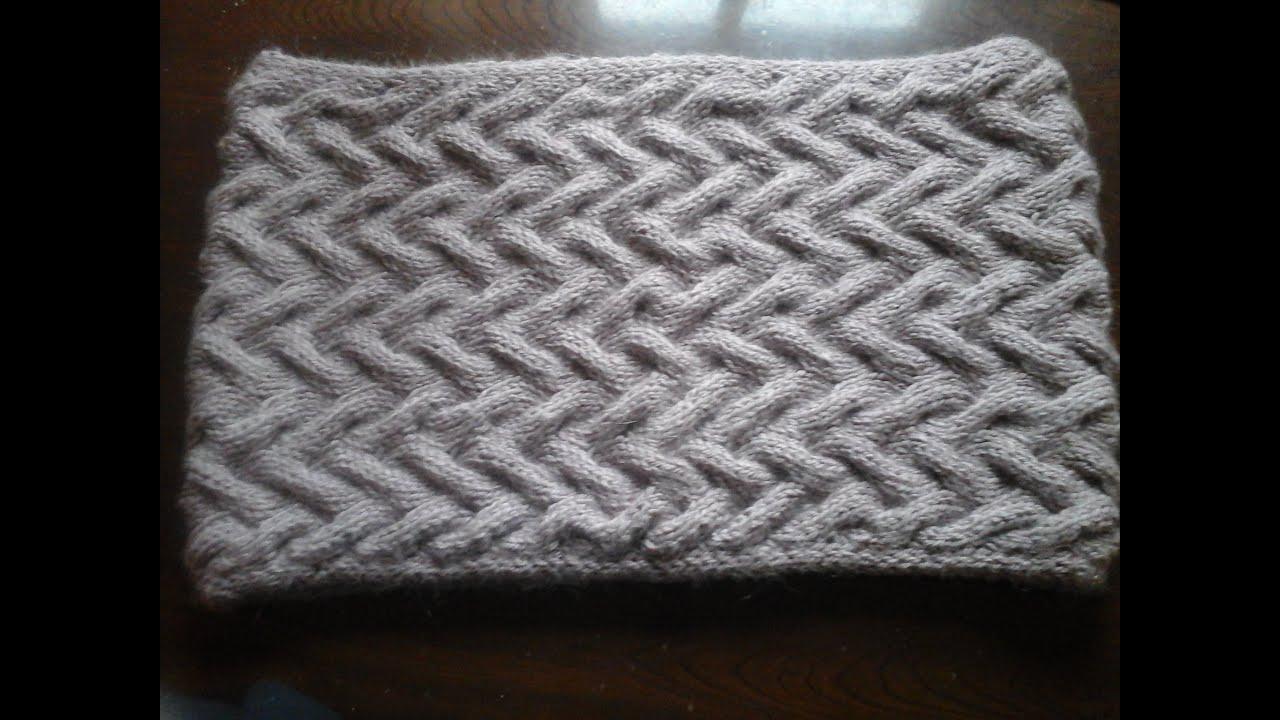 схема вязания шарфы для мужчин