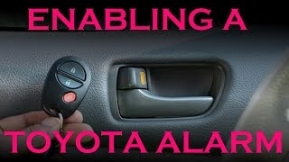 Enabling a Toyota Security System on Base Model Cars