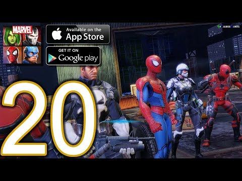 MARVEL Strike Force Heroes Android iOS Walkthrough - Part 20 - Campaign: Heroes Assemble: Chapter 4