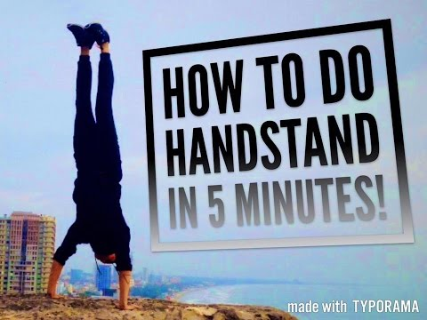 HƯỚNG DẪN TRỒNG CHUỐI trong 5 PHÚT Phần 1 - HOW TO DO HANDSTAND in 5 MINUTES Part 1.