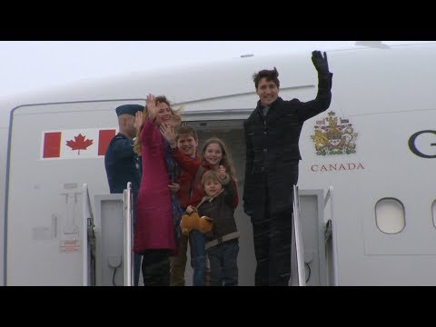 Justin Trudeau departs on week-long India trip with kids in tow