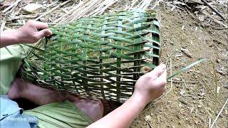 Примитивные технологии  Бамбуковая корзина