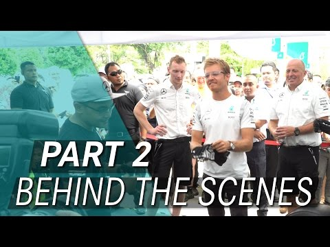 Action-packed day with Lewis Hamilton & Nico Rosberg in KL!