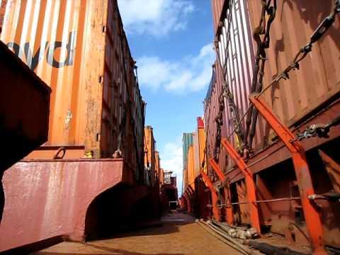 Creaking Cargo on the MV Veracruz Express, a Ship Of Opportunity Program member