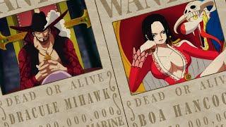 Tiền truy nã của DRACULE MIHAWK, BOA HANCOCK, BUGGY, WEEVIL, DOFLAMINGO [One Piece Chapter 957]