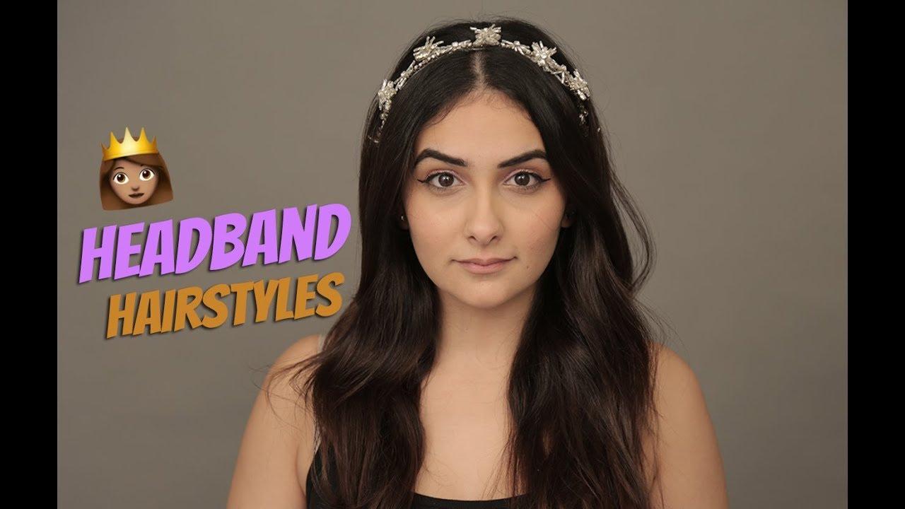 quick & easy headband hairstyles