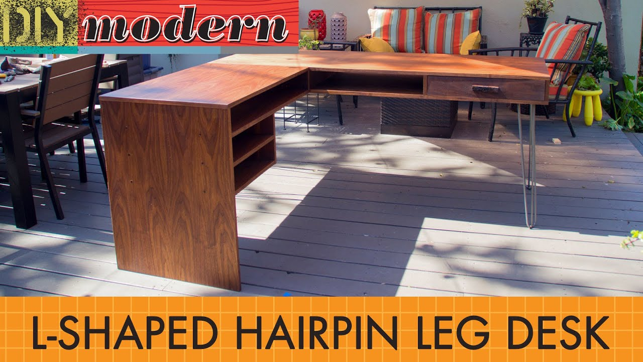 How to make a modern desk - YouTube